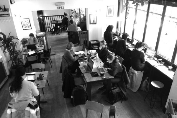 online coworking instead of in a cafe